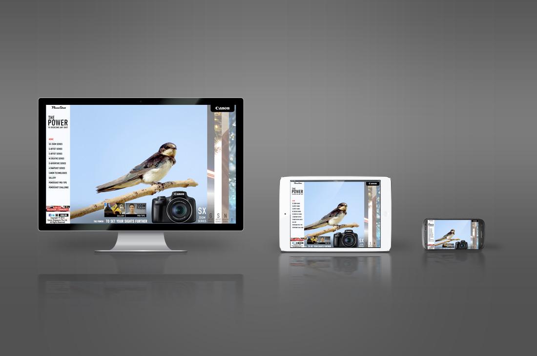 Canon PowerShot Microsite