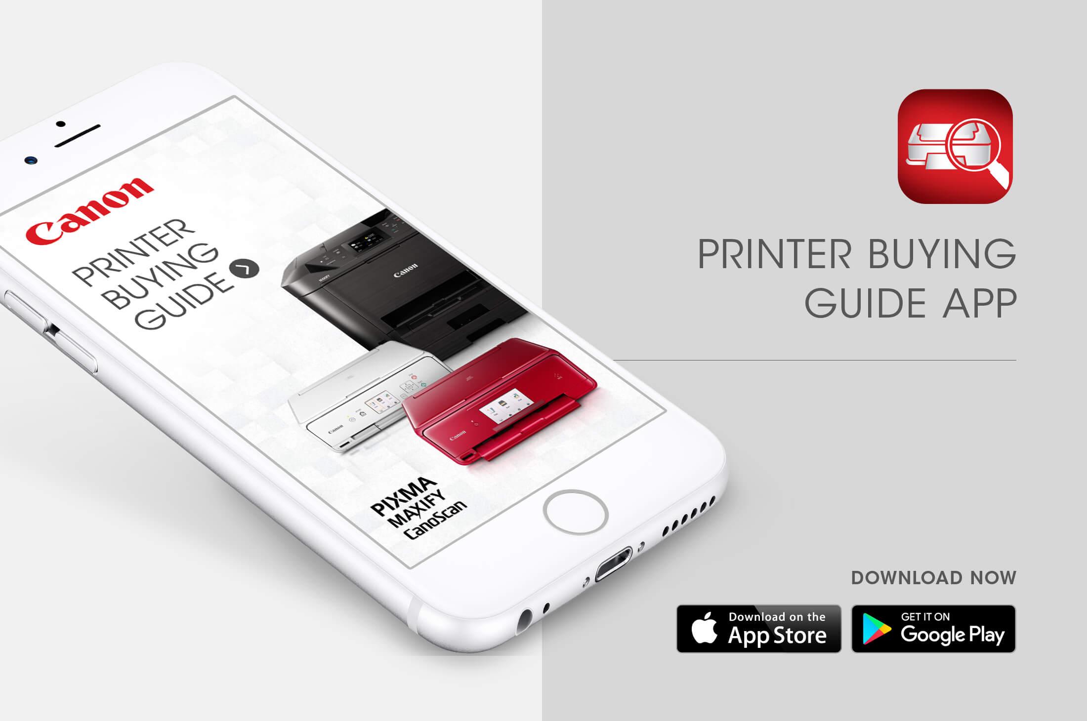 Canon Printer Buying Guide App   w3-o design + interactive lab